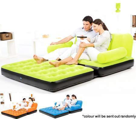 Velvet Air Sofa Cum Bed Bedroom Bathroom Kids Furniture Maa