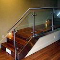 S.S  Railing with Glass