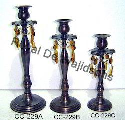 Fashion Pillar Bead Crystal Candle Holder