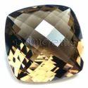Smoky Quartz Checkerboard Cut Antique Cushion Gemstone