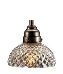 Antique Silver Glass Honeycomb Pendant Lamp