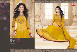 Chiffon Semi-Stitched Designer Anarkali Suits