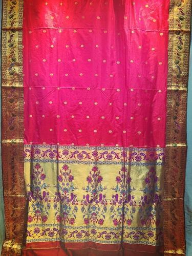 da4f69acd1bd8 Pink Paithani Silk Saree at Rs 9000  piece(s)