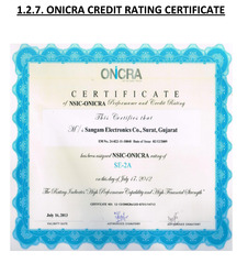 Onicra Credit Rating Certificate