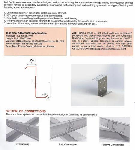 Z Sections, C&z Purlins   Pacasiya, Indore   Design Metal