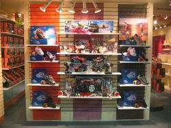 Shoes Display on Slatwall Board