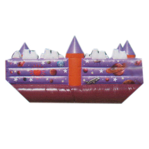 Purple PVC Inflatable Bouncy House, 3 - 12 Years