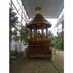 Heavy Wooden Temple Chariot 14 feet