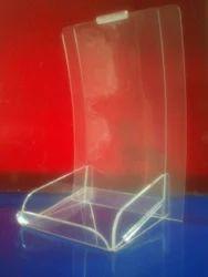 Acrylic Leaflet Holder with Utility Tray