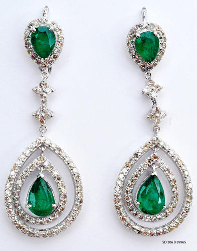 Men Jean Read More Silver Emerald Earring
