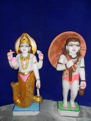 Polished Dashavatar Marble Statue