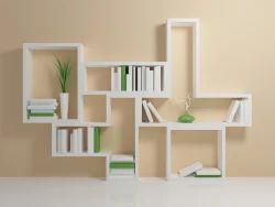 White Wooden Matt Finished Shelves