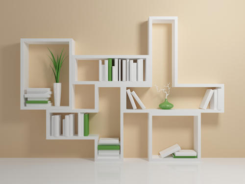 White Wooden Matt Finished Shelves