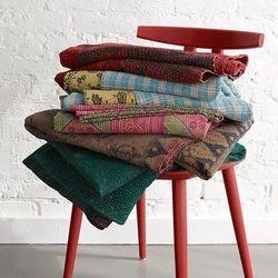 Vintage sari quilt handmade kantha quilt