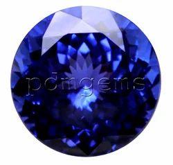 PDM Gems Tanzanite Faceted Round Cut Gemstone