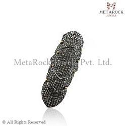Pave Diamond Knuckle Rings