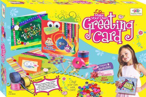 Happy Kidz Baby Girls Art Craft Toys For Kids Make Your Own