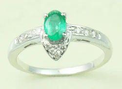 Designer Silver Studded Ring