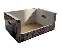 Brown Square Corrugated Counter Display Box