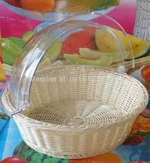 Poly Rattan Basket W/PC Cover