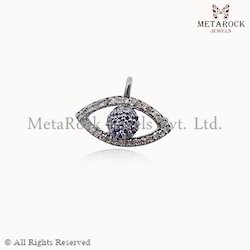 Blue Sapphire Gemstone Diamond Evil Eye Charm Pendant