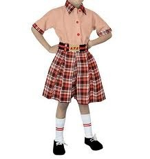 Tex World Cotton Girls School Skirt With Shirt, Age Group: 5 To 15 Years