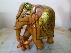 Wooden Painting Elephant