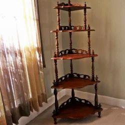 Wooden Corner Shelf Wooden Furniture Saharanpur Usha