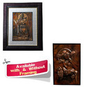 Brown Metal Lovable Krishna On Copper Sheet - Handmade Mural For Home Office, Packaging Type: Poly Wrap Or Box, Size: 12 Inch
