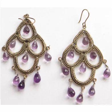 Amethyst chandelier earrings designer earrings suman mishra new amethyst chandelier earrings mozeypictures Gallery