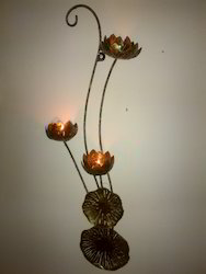 3 Flower T Light Wall Hanging