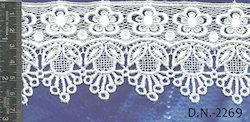 Single Sided White Guipure Lace, For Garments
