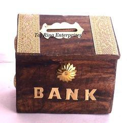 Small Wooden Money Bank