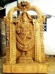 Lord Balaji In Wood 6 1/2 Feet