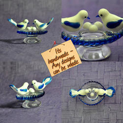 Lamp Work - Flame Working Decorative Glass Birds, For Holiday Decoration & Gift, Size/Dimension: 3 Inch
