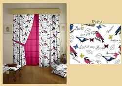 Birds Printed Curtains
