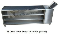 SS Cross Over Bench with Box