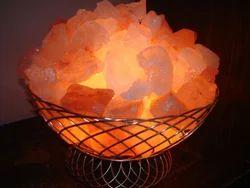 Metallic Basket Lamp