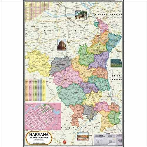 Haryana map at rs 110 piece political state maps id 7595393612 haryana map gumiabroncs Images
