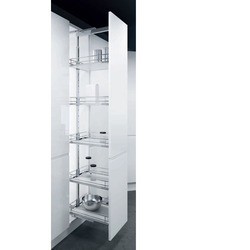 Elegant Stainless Steel Pantry Pullout 6Layer