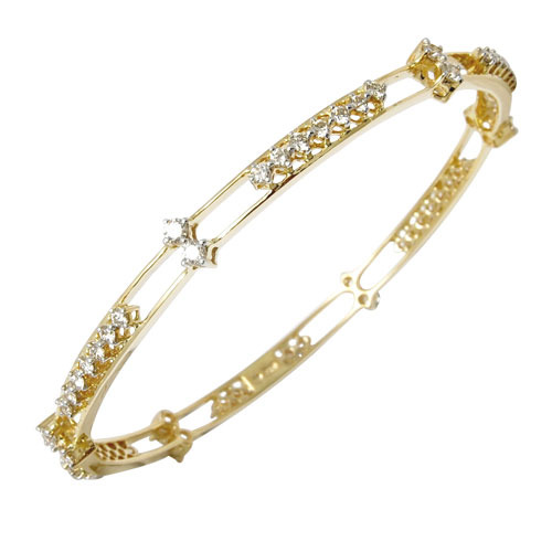 Yellow Gold Diamond Bangle at Rs piece
