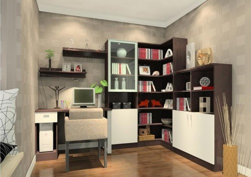 Study Room Interior Designing in Chennai Padappai by Angelson Decor