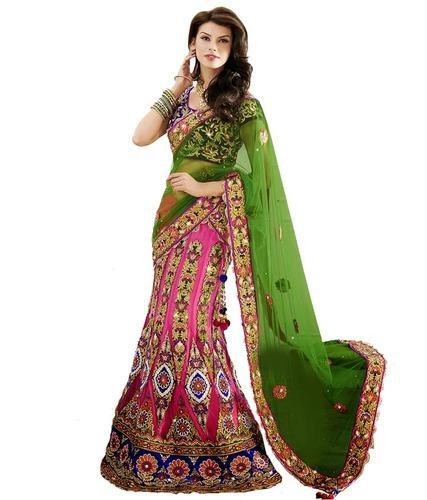 50da16cdb3 Lehenga Sarees - Net Red Colored Saree Manufacturer from Delhi