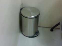 Stainless Steel Paddle Bin