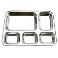 American 5 Compartment Plate