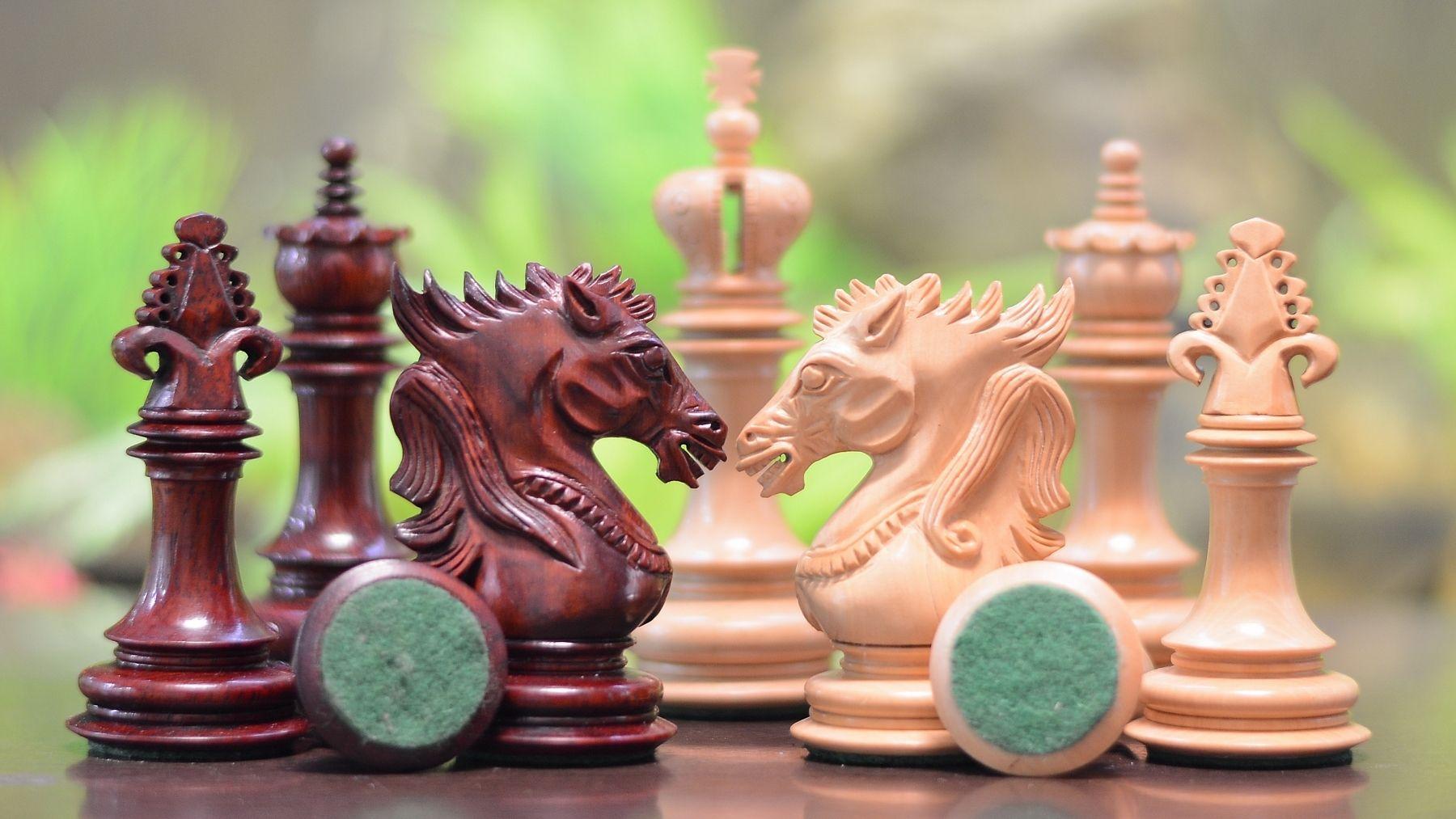 Dragon Knight Chess Pieces In Bud Rose/Box Wood-4.6, लकड़ी के शतरंज सेट,  वुडन चैस सेट - Art Smart, Mohali | ID: 9828737130