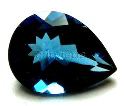 London Blue Topaz Pear Gemstone