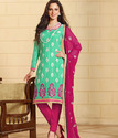 Elegant Green And Maroon Salwar Kameez Suit