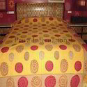 Cotton Screen Printed Bed Sheet