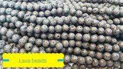 Lava Beads Beaded Mala